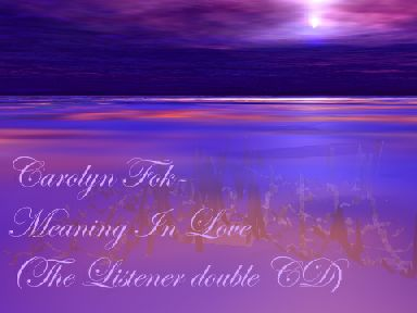 Meaning In Love (The Listener double CD)