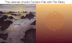 """""""The Listener"""" Carolyn Fok, with Tim Story"""